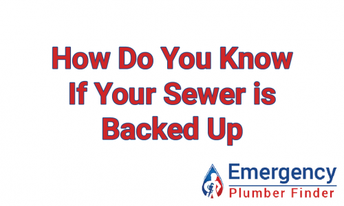 If your sewer is backed up